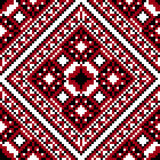 Folk cross-stitch seamless Royalty Free Stock Photo