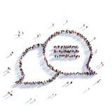 Folk 3d för bubblapratstundmeddelande Arkivbild