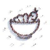 Folk 3d för nya grönsaker för platta Royaltyfri Illustrationer