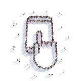 Folk 3d för telefonhandhandlag Arkivfoto