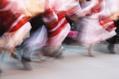 Folk dance. Performance. Motion blurred stock photography