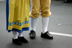 Folk dance. R legs stock images