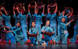 Folk dance of the basket Royalty Free Stock Image