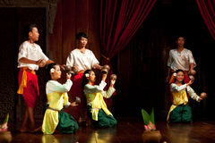 Folk Dance, Cambodia Royalty Free Stock Photo
