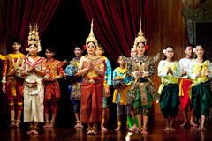 Folk Dance, Cambodia Royalty Free Stock Photos