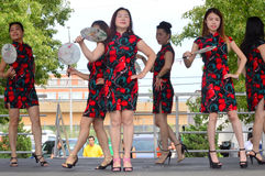 Folk Dance at Chinatown Summer Fair royalty free stock image