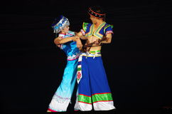 Folk dance of chinese Royalty Free Stock Image