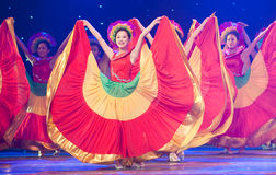 Folk Dance: colorful melody. March 2, 2011. a reflection of Jiangxi original ecological humanities landscape of large style song and dance the wind in Jiangxi Stock Photo