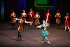 Folk dance at concert of Gennady Ledyakh School Royalty Free Stock Images