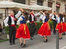 Folk dance ensemble from Romagna, Italy Stock Images