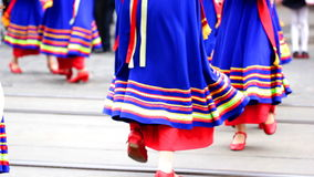 Folk dance stock video footage