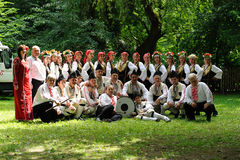 Folk dance group of Zarya Stock Photography
