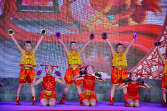 Folk Dance on Lantern Festival Stock Photo