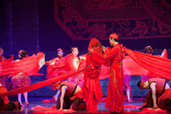 Folk Dance: married. In May 7, 2010, a reflection of Jiangxi original ecological humanities landscape of large style song and dance the wind in Jiangxi Art Stock Image