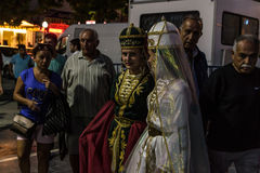 Folk Dance And Music Festival. Annual Altincinar Golden Plane Tree Festival taking place in Cinarcik town of the country Turkey with participation of Royalty Free Stock Photos