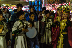 Folk Dance And Music Festival. Annual Altincinar Golden Plane Tree Festival taking place in Cinarcik town of the country Turkey with participation of Stock Images