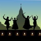 Folk dance, navratri. View of a folk dance, navratri Royalty Free Stock Image