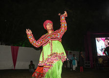 Folk Dance Navratri Stock Images