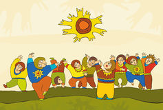 Folk Dance People Royalty Free Stock Images