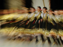Folk dance performance. 23.International Golden Karagöz Folk Dance Competition activity was carried out successfully this year between July 7-12 by the Bursa Royalty Free Stock Photo