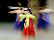 folk dance performance stock photo