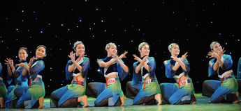 Folk dance. A folk dance performed in Guangzhou royalty free stock photos