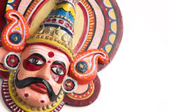 Folk dance puppet of India. Hand made face puppet/mask depicting a character in yakshagana -- a folk dance form of southern India Stock Photos