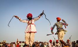 Folk dance in Pushkar, India Stock Photo