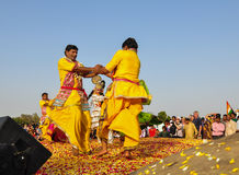 Folk dance in Pushkar, India Stock Photos