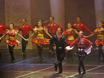 Folk dance show Stock Images