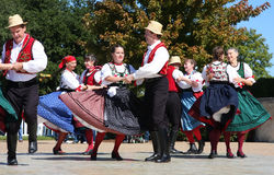 Nice folk dance show  Royalty Free Stock Images