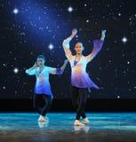 Folk dance training Royalty Free Stock Images