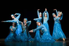 Folk dance of uzbekistan Royalty Free Stock Image