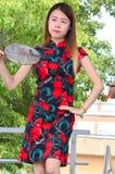 Folk Dancer at Chinatown  Summer Fair 2016 Royalty Free Stock Image
