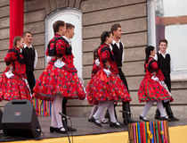 Folk dancers Stock Photography
