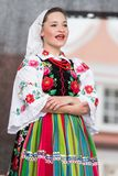 Folk dancers from city of Lowicz and traditional costumes, Polan Royalty Free Stock Photos