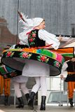 Folk dancers from city of Lowicz and traditional costumes, Polan Stock Photos