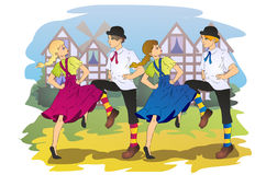 Folk dancers Royalty Free Stock Image