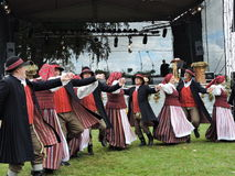 Folk dancers, Lithuania Stock Images