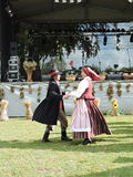 Folk dancers, Lithuania Royalty Free Stock Images