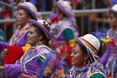 Folk dancers at the Oruro Carnival in Bolivia Stock Photo