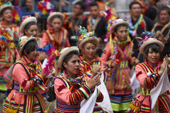 Folk dancers at the Oruro Carnival in Bolivia Stock Photography