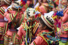Folk dancers at the Oruro Carnival in Bolivia Royalty Free Stock Photography