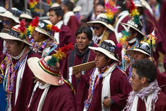 Folk dancers at the Oruro Carnival in Bolivia Royalty Free Stock Image