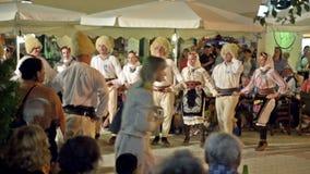 Folk Dancers stock video footage