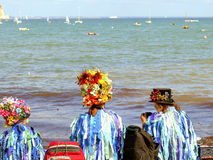Folk dancers at Swanage festival Royalty Free Stock Photo