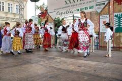 Folk dancers Stock Photography