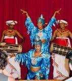 Folk dances in the local theater scene. Royalty Free Stock Photos