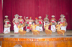 Folk dances in the local theater scene. royalty free stock photography