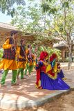 Folk Dances of Uttarakhand along with Folk music band including dance forms like Chancheri,Chhapeli Dance. ECR,Chennai.25 Feb 2017. Folk Dances of Uttarakhand stock photo